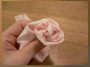 Как сделать розы из ткани своими руками пошагово