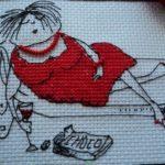 Вышивка крестом подушки схема бесплатно
