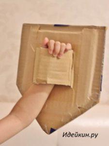 картонный щит для маленького рыцаря