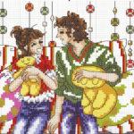 Схемы вышивки крестом романтические сюжеты