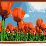 Рисунок по номерам «Тюльпаны» схема