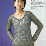 Ажурная летняя блузка крючком