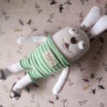 Прикольный заяц из носка