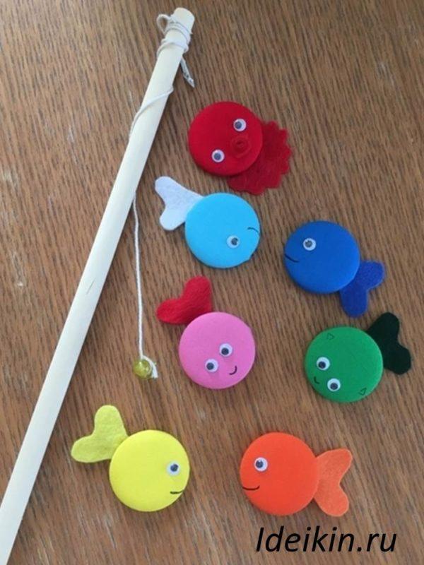 Детская магнитная игра Веселая рыбалка своими руками