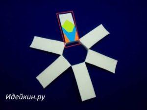 Снежинка из картонной трубки