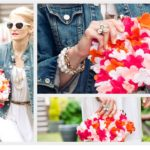 Летняя сумка с цветочным декором