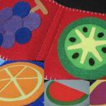 Книжка из фетра с картинками фруктов