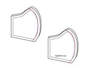 Защитная маска с удобными завязками из ткани