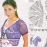 Болеро крючком схемы и описание для женщин