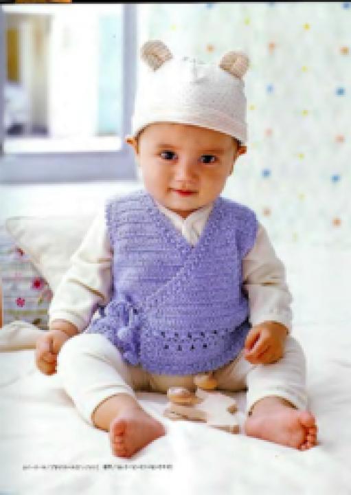 Кофточка на ребенка 0-6 месяцев крючком