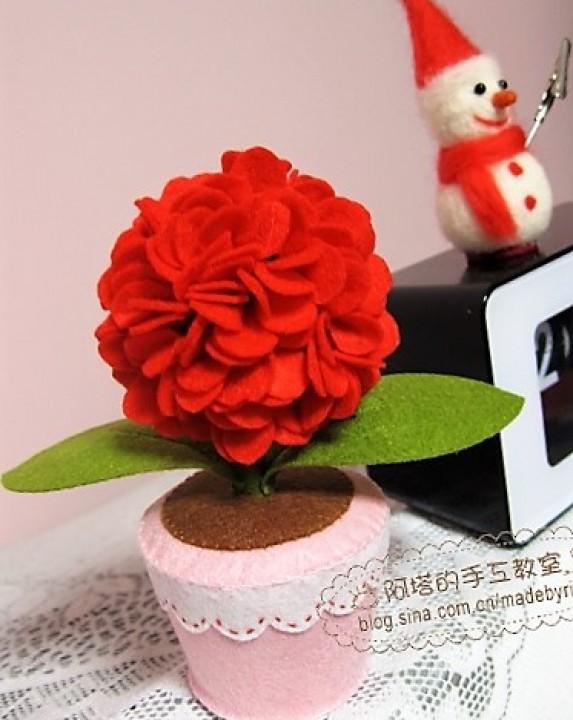 Как сделать красивый цветок из фетра своими руками с фото