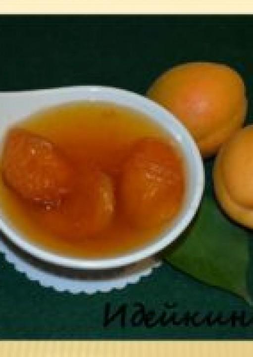 Янтарное варенье из абрикос в желатине