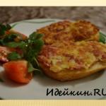 Горячие бутерброды с сыром и колбасой