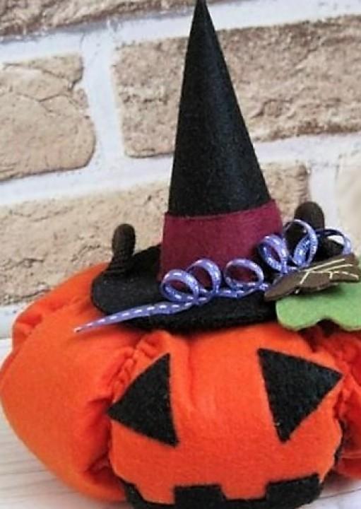 Тыква из фетра на Хэллоуин
