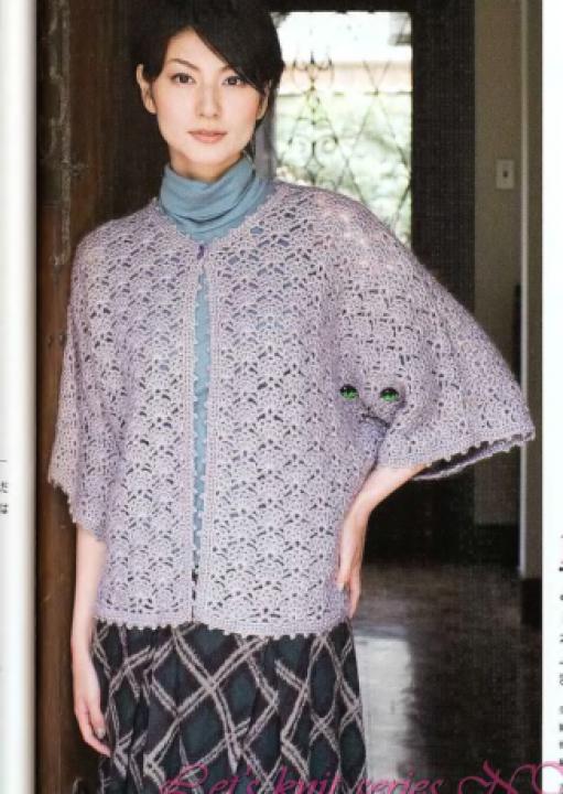 Женская блузка крючком схемы